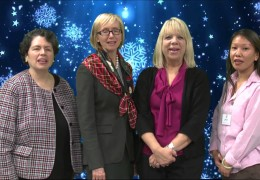 Barbara, Jane, Elaine and Julie from Bank of Canton wish you Happy Holidays