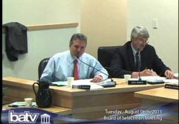 Board of Selectmen 8/6/13