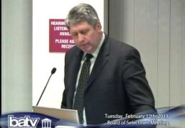 Board of Selectmen Meeting 2/12/13