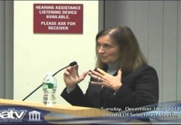 Brookline Board of Selectmen 12/18/12