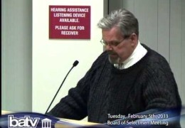 Brookline Board of Selectmen 2/5/13