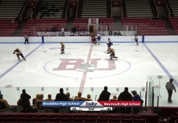 Brookline Boys Varsity Ice Hockey 1/9/13
