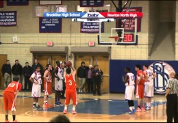 Brookline High Boys Varsity Basketball 2/6/13