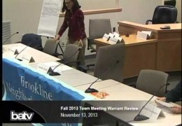 Fall 2013 Town Meeting Warrant Review