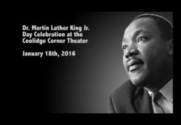 Dr. Martin Luther King Jr. Day Celebration at the Coolidge Corner Theater. January 18th, 2016