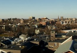 Time Lapse view from the top of the Brookline Town Hall Building