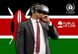 The Public VR Lab at the United Nations Environmental Assembly in Nairobi, Kenya.
