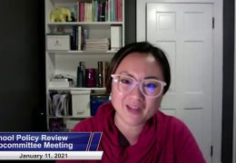 School Policy Review Subcommittee Meeting – January 11, 2021