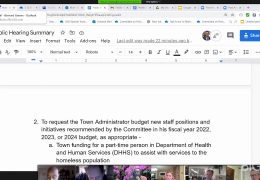 Select Board Committee on Policing Reforms Meeting – March 10 2021