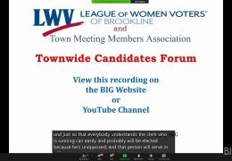 League of Women Voters and TMMA 2021 Candidate Forum – April 18th, 2021